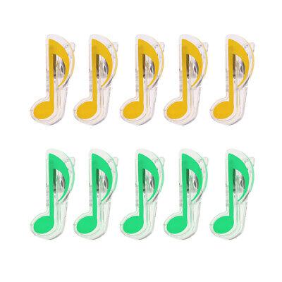 f Notenblätter Bücher Clips Klaviersaiten Zubehör (Kunststoff-noten)