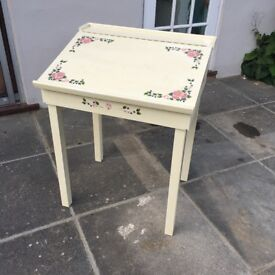 Child's High Quality Hand-Painted Wooden Lift-Up Writing Desk