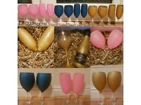 Glitter glasses any colour! Personalised options too!