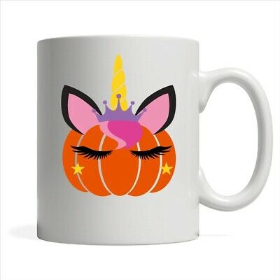 Halloween Pumpkin Unicorn A Coffee White Mug