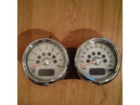 BMW MINI One / Cooper / S Dual Rev Counter / Speedo Chrome R50 R52 R53.