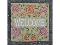 Attractive Concrete Flowered Wall Plaque