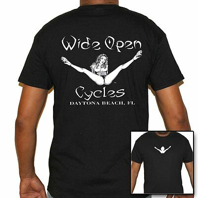 Stripper T Shirts (T Shirt Wide open cycles Shirt Skull Motorcycle no Harley Stripper)