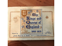 JOHN PLAYER CIGARETTE CARDS KINGS AND QUEENS OF ENGLAND