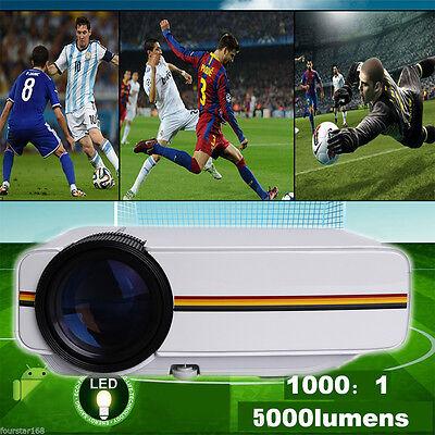 5000Lumens 1080P HD 3D LCD LED Projector Home Theater HDMI/HD Digital Multimedia