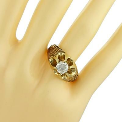 - Solid 18k Gold 0.85ct Diamond Crown Set Solitaire Men's Ring LIQUIDATION!!