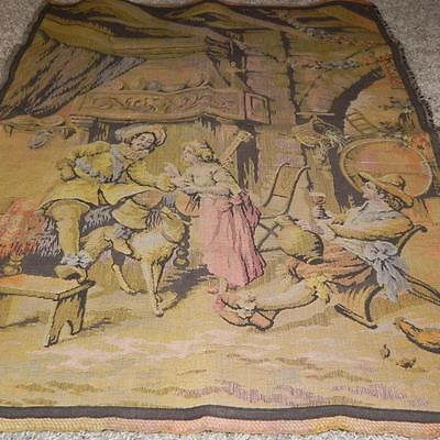 """#114 Vintage 33"""" x 25"""" Old World Tapestrie Tapestry Wall Hanging Wall decor Rug"""