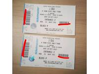 x2 J. Cole Seated Tickets Dublin 3 Arena Wednesday 18th October