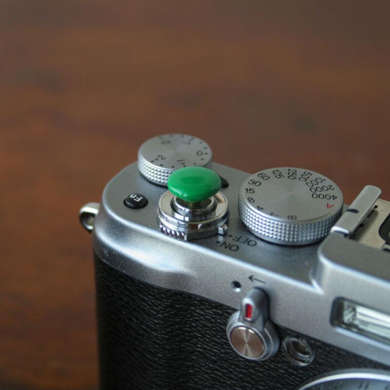 Green Small Soft Release Button f/ Leica M3 M4 M6 MP M8 M9 Fuji X100 Nikon Canon