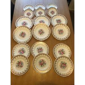 Weatherby Hanley England royal falcon ware set