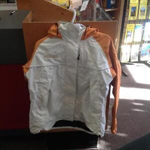 Columbia waterproof jacket/she'll -Women's L- Orange/white (sku: Z15077)