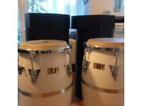 Pair of Congas including cases LP Latin Percussion Vintage 1978 Martin Cohen