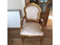 BRAND NEW!!! Louis French golden chair, shabby chic chair, vintage chair, chateau