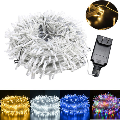 outdoor fairy string lights 100 500leds waterproof