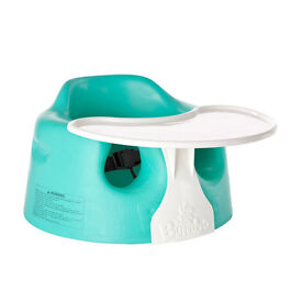 Bumbo Combi Sitter Green With Tray. In Excellent Condition.