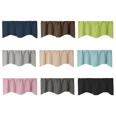 Solid Color Window Panel Drape Valance Kitchen Cafe Short Curtain Rod -
