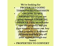 Looking for properties going through repossession and probate properties!