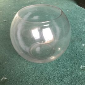 Glass bowls 8 inch diameter suitable wedding table centre pieces.