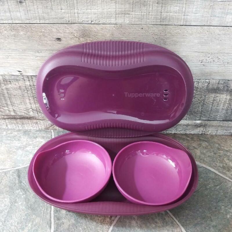 Tupperware Microwave Cooker/Steamer Breakfast Maker +Egg Inserts 1.75 cups 6996B
