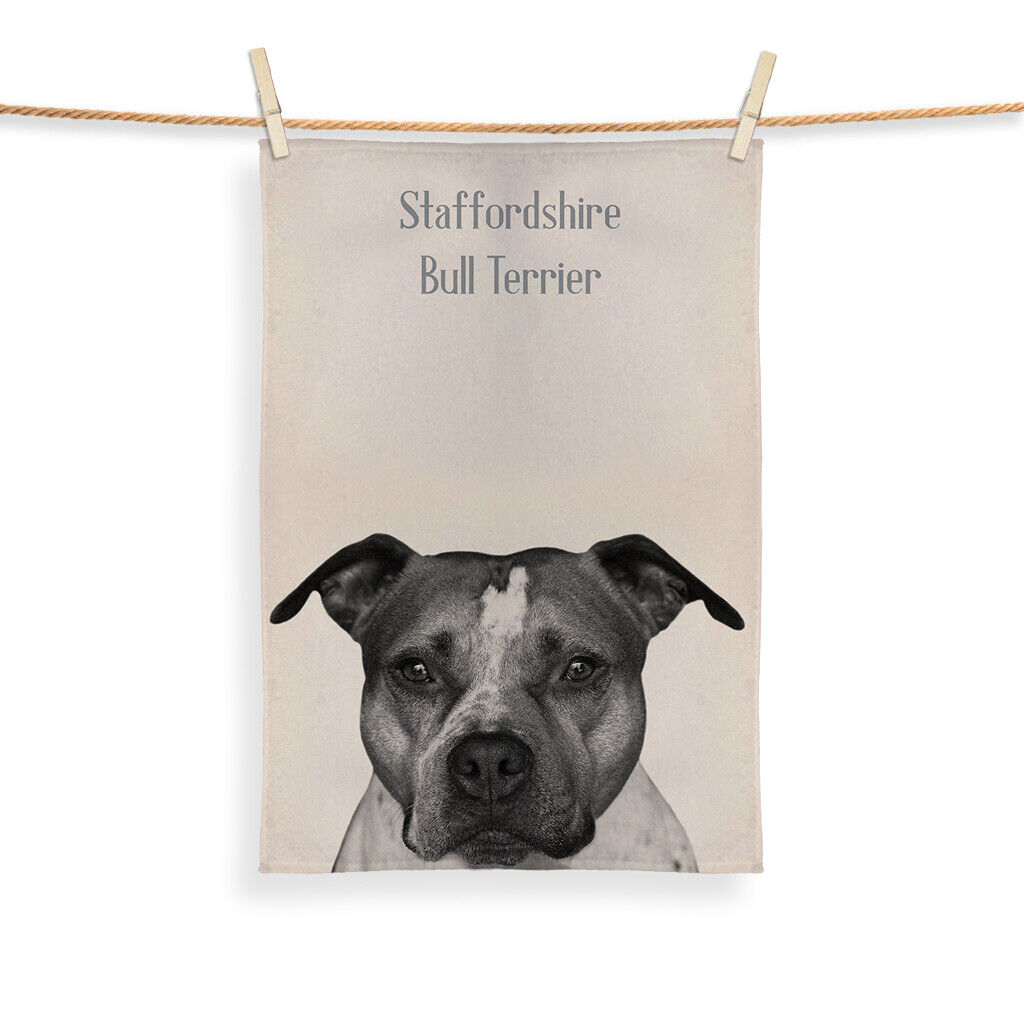 Staffordshire bull terrier design - thé serviette
