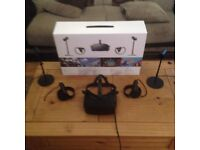 Oculus Rift (VR Headset w/ Grips,Sensors Cables)