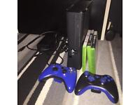 XBOX 360, 2 Controllers and 3 games