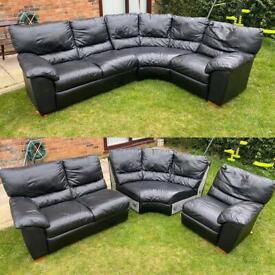 Black 3 piece DFS sofa can be delivered