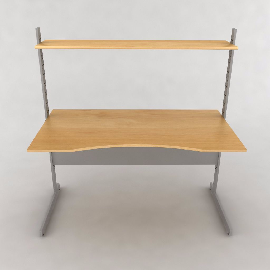 Charming REDUCED: IKEA Jerker Desk | Adjustable Height Shelves Idea