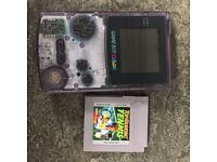 Gameboy Colour Clear Purple Console & Top Ranking Tennis Game