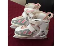 Girls adjustable ice skates size 13 extending to 3 junior