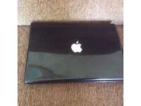 Macbook Black Apple mac laptop very fast with 256gb SSD hard drive in full working order