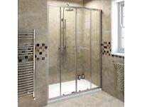 1400 sliding glass shower door