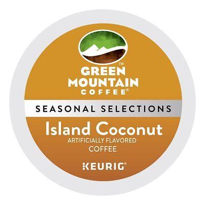 Green Mountain Island Coconut Coffee 96 off Keurig K Cups Free Shipping !