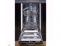 White Knight Slimline Integrated Dishwasher DW1045IA. 10 place settings. BRAND NEW IN PACKAGING