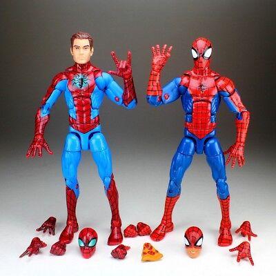 "Marvel Legends Unmasked Homecoming & Pizza Spiderman 6"" Loose Action Figure"