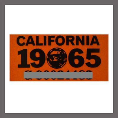 1965 California Yom Dmv Car Truck Trailer License Plate Sticker   Tag Ca 1963 65