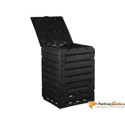 Nature Thermo Compost Bin 300L Black Garden Waste Rubbish Trash Recycling Box