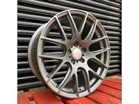 "New Wheels 18"" 5x112 Graphite Alloys VW Golf Audi A3 Seat Skoda"