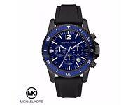 New Michael Kors Men's Black Chronograph Watch (MK8165)