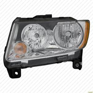 Head Light Driver Side Code Lmb Without Black Trim Without Leveling Jeep Compass 2011-2013