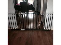 Large black baby/pet gate