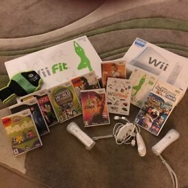Wii console; Balance Board & loads of fitness software