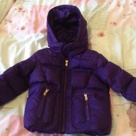 Purple Ralph Lauren coat aged 12-18 myhs