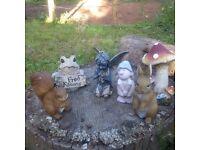 Garden Ornaments. Fairy, Toadstool, Frog etc