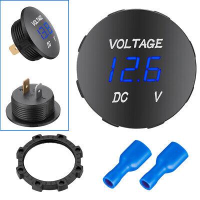 Led Digital Voltmeter Car Motorcycle Voltage Volt Gauge Panel Meter Dc 12v-24v