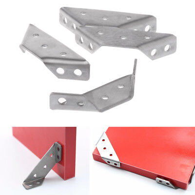 (4PCS Small Stainless Steel Support Right Angle Code Fixed Bracket Corner Brace)
