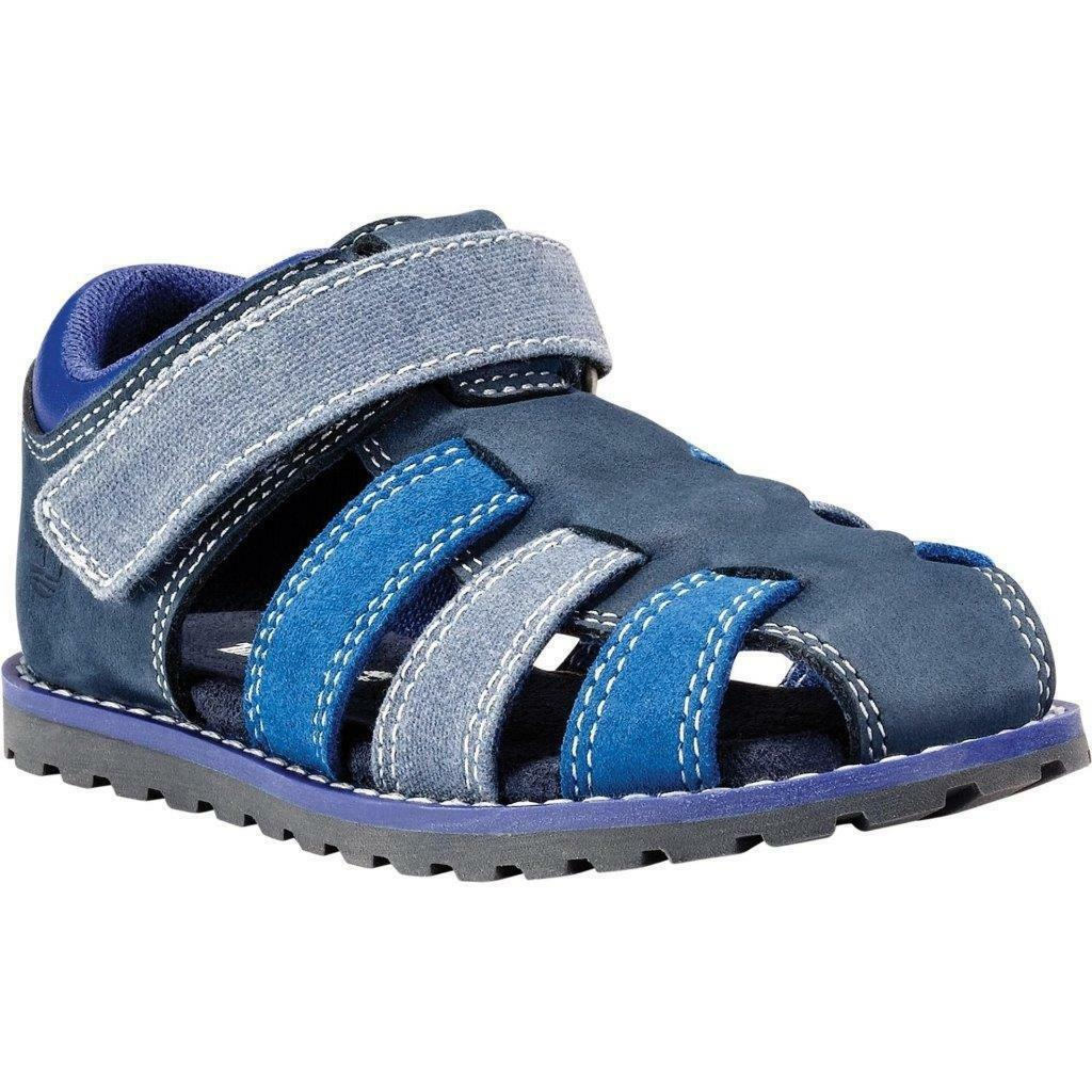 Genuine Timberland Infants Junior Kids Sandals Blue Beach Shoe Leather Suede