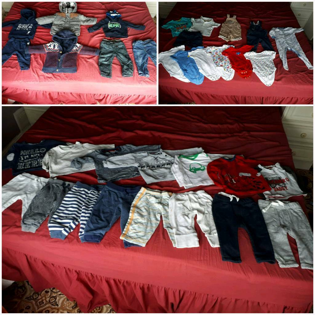 34 peice baby boy bundle 9-12 months + a free rocking horse