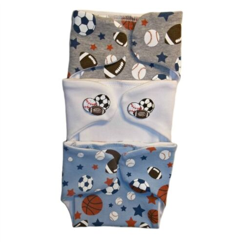 Baby Boys' Sports Balls Diaper Covers Nappy 3 Pack - 4 Preem
