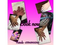 Nail technician and sienna X tanning service